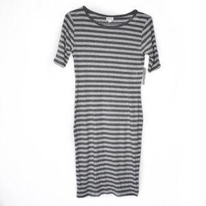 Lularoe Striped Julia Short Sleeve Dress Small NWT